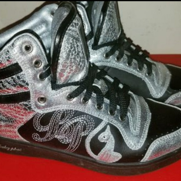 41f8056ba Baby Phat Shoes | Womens Silver High Top Sneakers | Poshmark